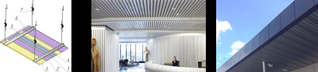 мультипанельный потолок реечный купить киев